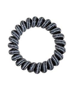 dicker Zopfhalter aus Kunststoff mit schwarz weissem umlaufendem Muster