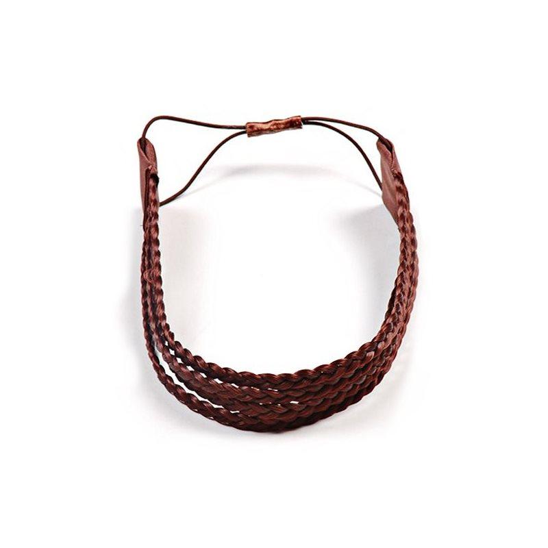 Haarband aus geflochtenem Kunsthaar kastanie