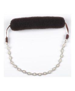 Knotenrolle mit Band aus Strass und Perlen