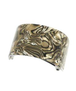 Zopfhalter, Kunststoff, mit Muster beige schwarz
