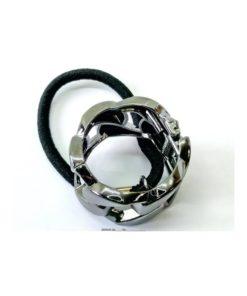 Zopfhalter mit Magnetverschluss aufklappbar mit zusätzlichem Zopfgummi in oxydfarben